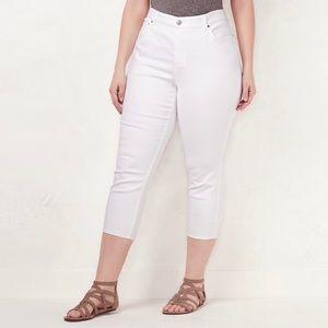 LC Lauren Conrad Plus Size Capri Skinny Jeans 18 W